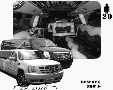 Cadillac Escalade 20 passenger SUV Limousine for rental in Denver, CO