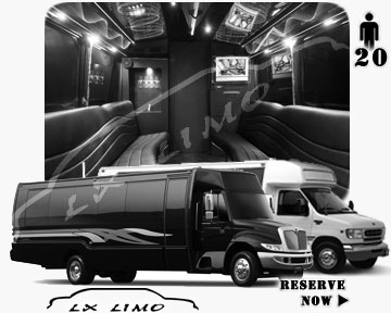 Party Limo Bus rental in Denver | Denver LIMOBUS 20 passengers